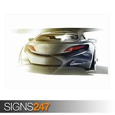 MERCEDES Benz disegno 1 (AD295) auto POSTER-poster foto print arte * Tutte le Taglie
