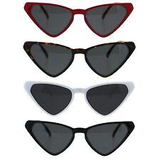 Womens Squared Triangle Cat Eye Thin Plastic Goth Retro Sunglasses