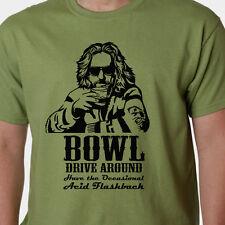 Big Lebowski t-shirt - BOWL-DRIVE AROUND-ACID FLASHBACK quote CULT FILM COEN