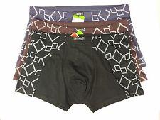 2xNatural Bamboo Fibre  Men's Boxer  Brief  Underwear  Multi Color  XS-28, S-30