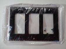 New Lot of 4 Leviton 004-80411 Triple-Gang Wallplate Ivory Black Almond White