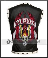 The Warriors Movie Waistcoat Vest Mens Rider Biker Black Leather Jacket