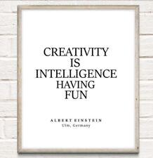 Albert Einstein Creativity Typography Print Poster Unframed Home Quote Gift