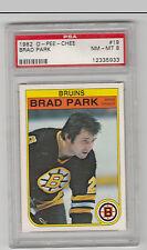 Brad Park 1982-83 OPC Card #19 PSA 8 NMMT Bruins