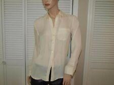 Armani Exchange SEDA BEAU Camisa AHUMADO blanco NUEVO CON ETIQUETA e5c856nt