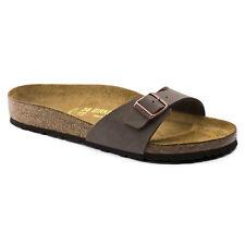 ORIGINALI  BIRKENSTOCK MADRID MOCCA  PIANTA NORMAL LARGA ciabatta sandali scarpe