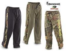 BROWNING Buckmark LOUNGE Sweat PANT CAMO Leg Stripe *Black or Loden Green SMALL*