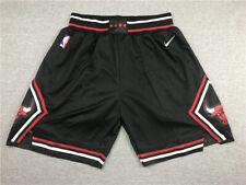 New Chicago Bulls Basketball Shorts Stitched Black Men's Pants NWT