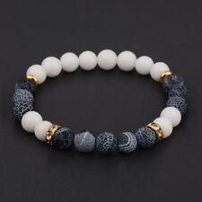 Charm Natural Lava Stone Gemstone Beads Buddha Head Lion S Men Bracelets