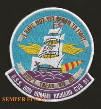 USS BON HOMME RICHARD CVA-31 PATCH CV CVS US NAVY WING PIN UP CARRIER GIFT WOW