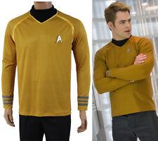 Star Trek Into Darkness Captain Kirk Costume Star Fleet Shirt Uniform Yellow New