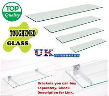 TOUGHENED GLASS SHELVES / SHELF SHOPFITTINGS / SLATWALL TWIN SLOT RETAIL DISPLAY