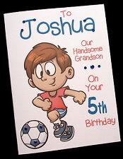 Personalised FOOTBALL Birthday Card 3rd 4th 5th 6th 7th Any SON GRANDSON NEPHEW