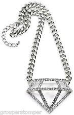 Collar de Diamantes Nuevo Iced Out Colgante con 41.9cm Cubano Eslabón 10mm