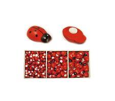High Quality Wood Flatback Scrapbook Ornament Ladybug Button Crafts Multi-Sizes