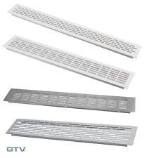 Kitchen worktop plinth heat vent grill, Aluminium, White or Steel, various sizes