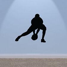 Adesivo Parete da Baseball-catcher Silhouette