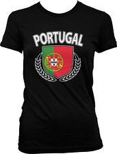 Portugal Olive Branch Crest-  Portuguese Pride Soccer Futbol  Juniors T-shirt