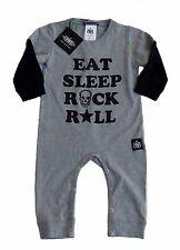 Rock Star Baby Bodysuit grau Rockabilly Bon Jovi Tico Torres 62 68 74 80 86