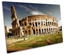 Rome Colosseum Italy Framed SINGLE CANVAS PRINT Wall Art