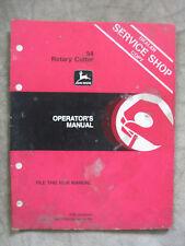 John Deere 54 rotary Cutter operators manual JDD1