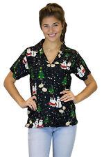 Blusa de Navidad, Camisa de Hawai, Christmas Buddys, Negro, XS - 6XL