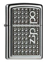 2004501 Zippo Feuerzeug Logo with Skulls - pers. Gravur möglich