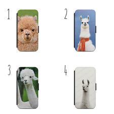 Llama Alpaca Face Cute Wallet Flip Case Cover IPhone Samsung