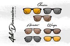 Korda 4ª DIMENSIÓN Gafas de sol polarizadas, Envolturas, Classics, AVIADOR -