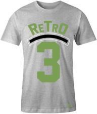 """Retro 3"" T-shirt to Match Retro ""Chlorophyll"" 3's"