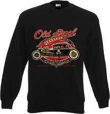 Sweat Shirt in schwarz mit einem Hot Rod-,US Car-,`50 Stylemotiv Modell OldSkool