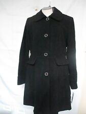 Kenneth Cole Single Breasted Wool Walker Coat Black NWT