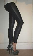 PETITE LENGTH Leggings Fabric Panel Leggings SIZES 6-18 Wet Look & Viscose. 210g