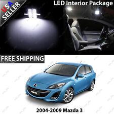 Mazda Speed 3 MS3 Sedan 4 Door White LED SMD 12V Interior Light Bulb Package Set