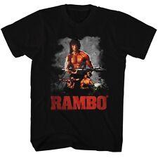 Rambo T-Shirt Scenes Black T-Shirt