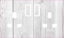 WHITE RUSTIC UK PLUG SOCKET STICKERS KIDS BEDROOM LIVING ROOM DECOR NURSERY