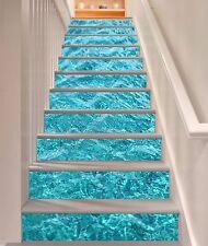 3D Rippling Water 1 Stair Risers Decoration Photo Mural Vinyl Decal Wallpaper AU