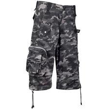 Black Pistol Gothic Punk Cargo Shorts Kurze Hosen - Army Short Pants Camouflage