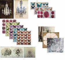 Canvas Wall Art Flowers Floral Metallic Superfoil Picture Home Decor Print Large