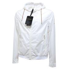 0689N giubbotto GEOSPIRIT giacca anti vento uomo jacket men bianco