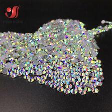 1440pcs Glitter Rhinestones Crystal AB On HotFix Sewing Fabric Garment DIY