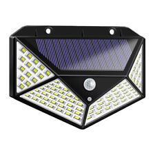 100LED Solar Motion Sensor Wall Light Outdoor Waterproof Yard Security Lamp #Cu3