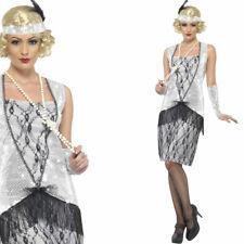 Ladies Silver Flapper Costume