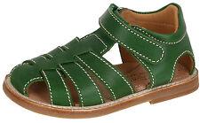 Zecchino d'Oro A31-3106 geschlos. Sandalen Leder Klett Fußbett grün 21-28 Neu