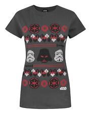 Star Wars Darth Vader Fair Isle Christmas Women's T-Shirt