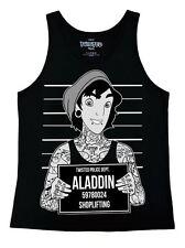 Twisted Punk Disney Aladdin Mugshot señoras Chaleco Top Gothic Emo Tattoo