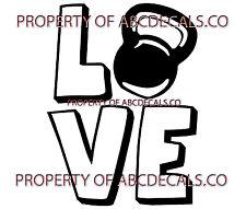VRS Love Logo KettleBell Weight Training CAR DECAL VINYL STICKER