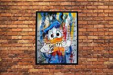 "Disney Print 10/""x 8/"" Mounted Art Picture Donald Duck Breakfast Toast"