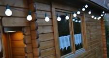 LED Lichterkette Party Biergarten 20 o. 50 LEDs warmweiß o. kaltweiß f. Außen