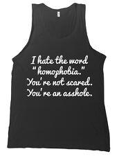 I Hate The Word Homophobia Bella + Canvas Tank Top Shirt LGBT NO H8 Gay - NEW